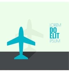 Icon plane vector