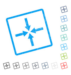 Impact arrows icon rubber watermark vector
