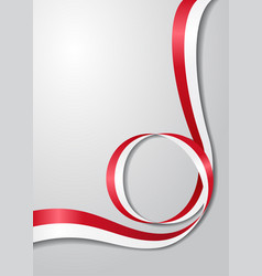 indonesian flag wavy background vector image