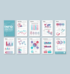 Infographic brohucres data visualization vector
