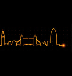 London light streak skyline vector