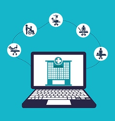 Medicine online vector