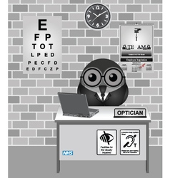 Optician consulting room vector