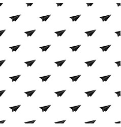 Paper airplane pattern vector