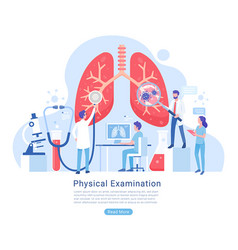 Physical and respiratory system examination vector