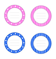 pink and blue plate baby cards - baby showe vector image