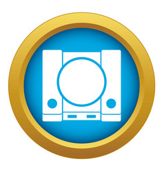 Playstation icon blue isolated vector