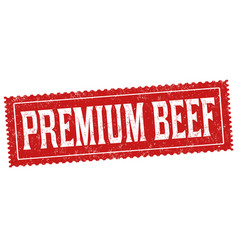 Premium beef sign or stamp vector