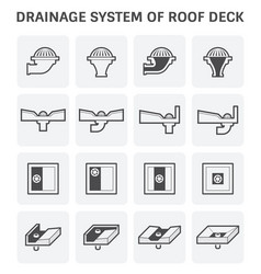 roof deck drainage vector image