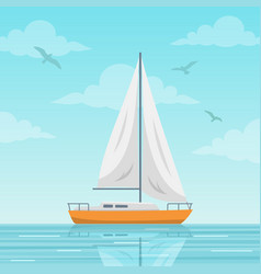 sailboat on the sea vector image