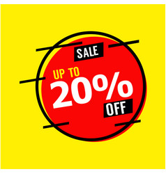 Sale up to 20 off template design vector