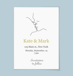 Save date invitation wedding card vector
