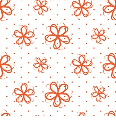 Seamless Flowers on a white background vector image