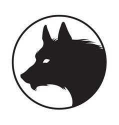 Silhouette wolf isolated logo sticker vector