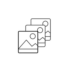 slide photos icon vector image