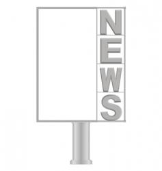 small billboard news vector image