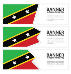 st kitts amp nevis flag banners collection vector image