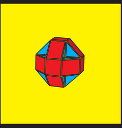 the three-dimensional geometric figure is a ball vector image