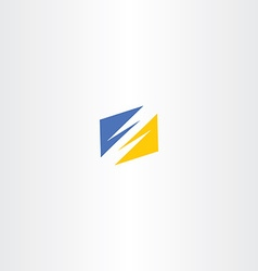 thunder yellow blue logo icon vector image