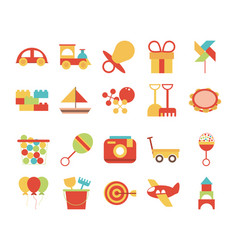 toy object for small children to play flat style vector image