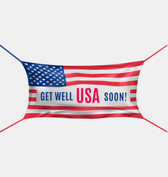 Usa get well soon protective mask in form of vector