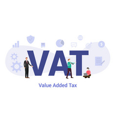 Vat value added tax concept with big word or text vector
