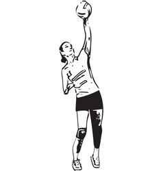 volleyball player playing vector image