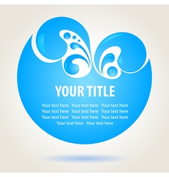 Water design background vector image vector image