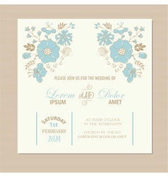 Wedding invit card vector