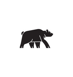 wild bear black concept icon wild bear vector image