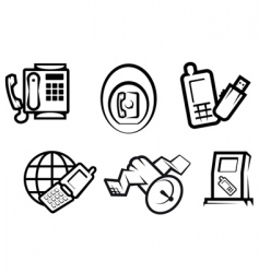communication and internet symbols vector image vector image