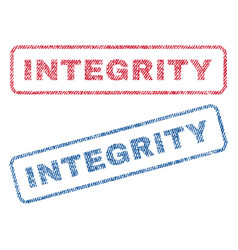 Integrity textile stamps vector