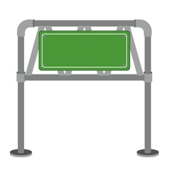 Metallic rectangle road sign board vector