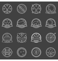 Sport labels or badges vector image