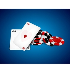 Aces and chips vector image