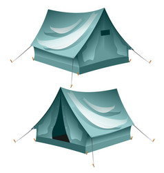 cartoon tent set isolated vector image vector image