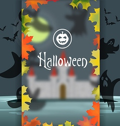 Greeting card or invitation Halloween Silhouette vector image