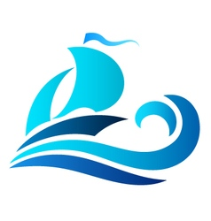 Ship on wave vector image