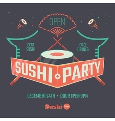 Sushi patry poster vector image