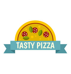tasty pizza label icon isolated vector image vector image