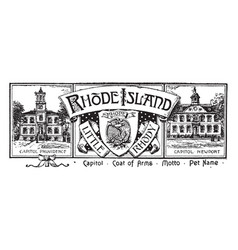The state banner of rhode island vintage vector