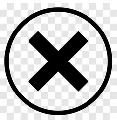 x-cross rounded icon - iconic design vector image