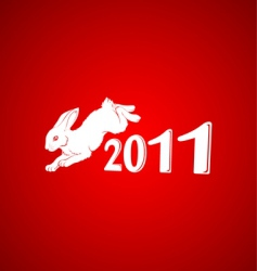 year of the rabbit 3 vector image