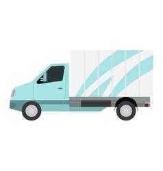 Delivery transport truck van vector image