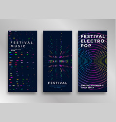 electronic music festival vector image