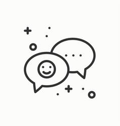 speech bubble line icon conversation chat dialog vector image