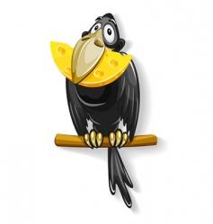 Black crow vector