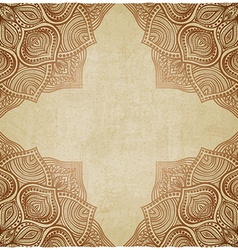 brown corner pattern old background vector image vector image
