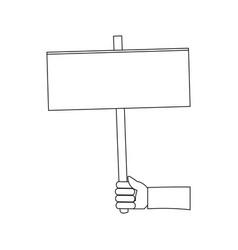 hand holding blank billboard advertisement vector image vector image
