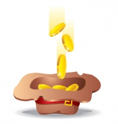 money fall into the hat vector image